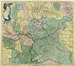 Царство казанское с окольными провинциями и частью реки Волги. Карта 1745 года.