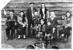 1938 год. Лаптев Иван Николаевич и Новоселов Мануил Федорович с женами- сестрами в девичестве Журавлевыми